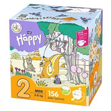 Pannolini taglia 2 pacco doppio 156 pz - Happy