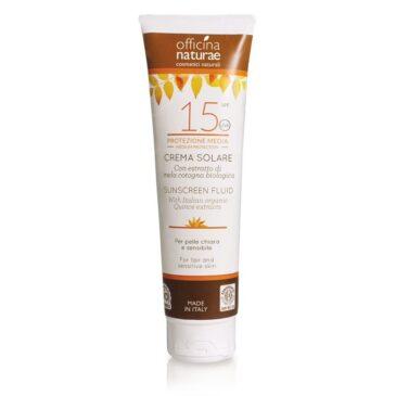 Officina Naturae Crema Solare protezione Media 15 SPF - 125 ml