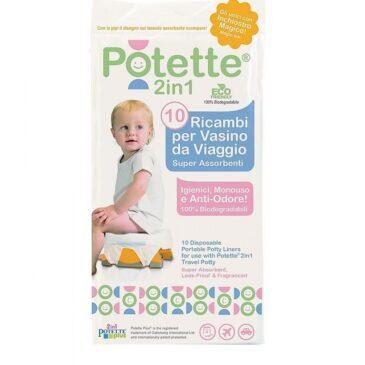 Potette 2 in 1 - 10 Sacchetti biodegradabili per Vasino