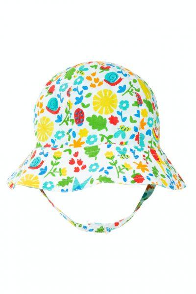 Cappello 6-12 mesi reversibile fiorato