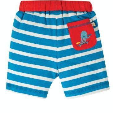 Pantaloncini a righe azzurre 12-18 mesi - Frugi