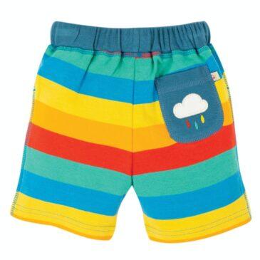 Pantaloncini a righe arcobaleno 18-24 mesi - Frugi