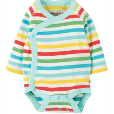 Body manica lunga stripes 0-3 mesi - frugi
