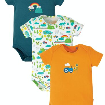 Body set 3 pz rainbow 12-18 mesi - Frugi