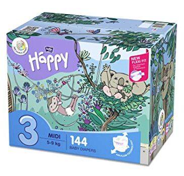 Pannolini taglia 3 pacco doppio 144 pz - Happy