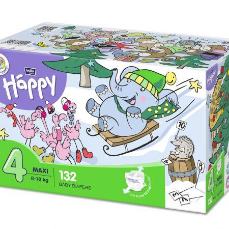 Pannolini taglia 4 pacco doppio 132 pezzi - Happy