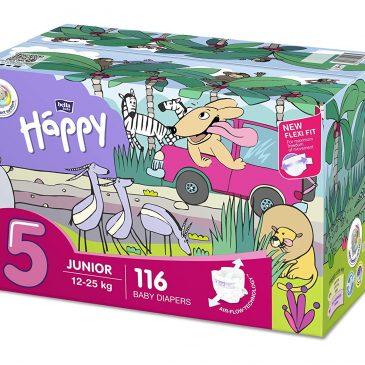 Pannolini taglia 5 pacco doppio 116 pezzi - Happy