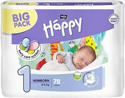 Pannolini taglia 1 pacco da 78 pezzi - Happy