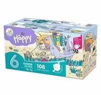 Pannolini taglia 6 pacco doppio 108 pezzi - Happy