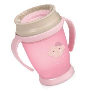 Bicchiere 360° 250 ml nuvola rosa - Lovi