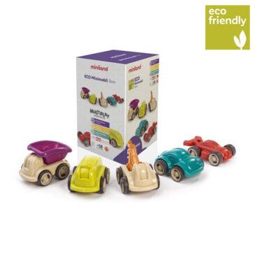 Eco Minimobil 12 cm 5 pezzi - Miniland