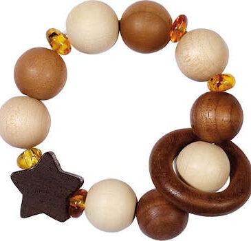 Strumento in legno e pietra di ambra - Goki