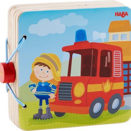 libro in legno vigili del fuoco - Haba