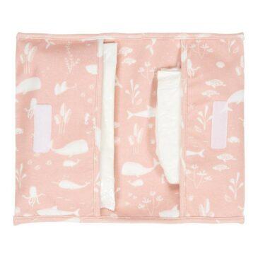 Porta pannolini da viaggio ocean pink - Little Dutch
