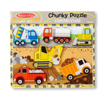 construction chunky puzzle - Melissa and doug
