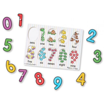 Numbers peg puzzle - Melissa and doug