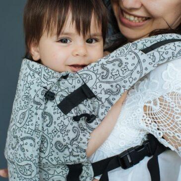 Neko Switch Baby size Efes Paisley Hazel Light - Marsupio ergonomico regolabile