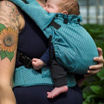 Neko Switch Baby size Blue Diamond - Marsupio ergonomico regolabile