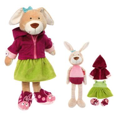 Bambola coniglio con differenti allacciature - Sigikid