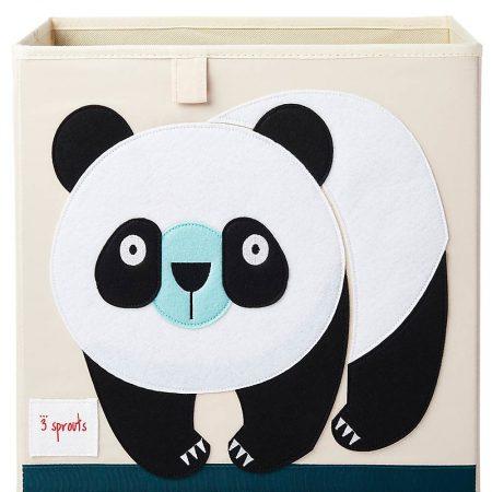 Contenitore Portaoggetti compatibile con scaffali Ikea Kallax e EKET - Panda - 3sprouts