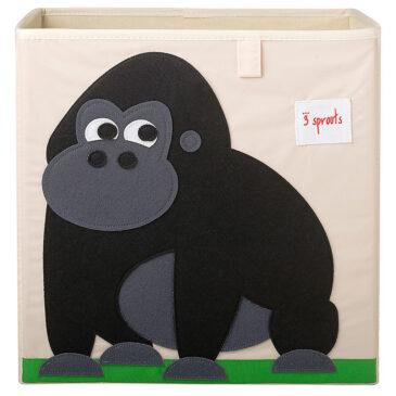 Contenitore Portaoggetti compatibile con scaffali Ikea Kallax e EKET - gorilla - 3 sprouts