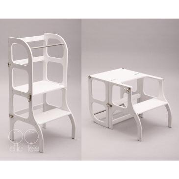 Learning tower/tavolino color bianco - Ette tete