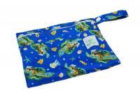 Wet Bag Mini Turtles - Blümchen Stoffwindeln