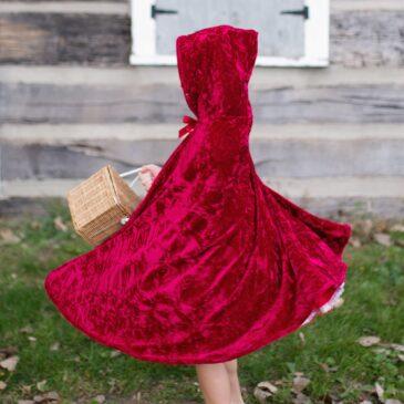 Mantello Cappuccetto Rosso con Cappuccio 5/6 anni - Great Pretenders