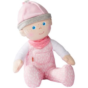 Bambola da coccolare rosa - Haba