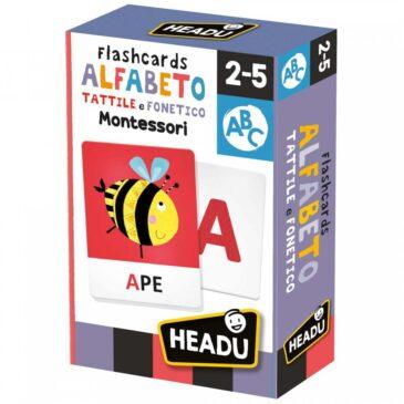 Flashcards Alfabeto Tattile e Fonetico Montessori - Headu