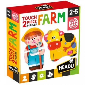 Touch 2 pieces Puzzles Farm - Headu