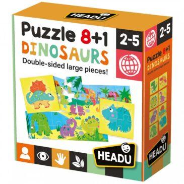 Puzzle 8+1 Dinosaurs - Headu