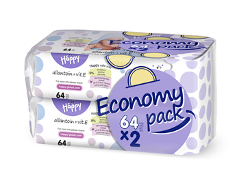 Pacco doppio salviette vitamina E 64 pz x 2 - Bella Happy