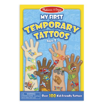 my first temporary tattoos blue Melissa and Doug