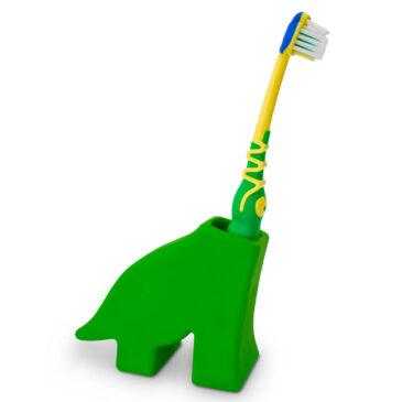 Porta spazzolino da denti dinosauro