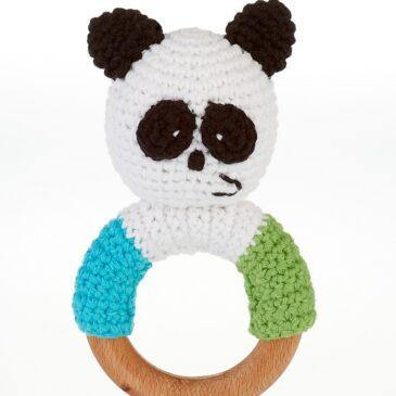 Sonaglio con anello dentizione panda - Pebble