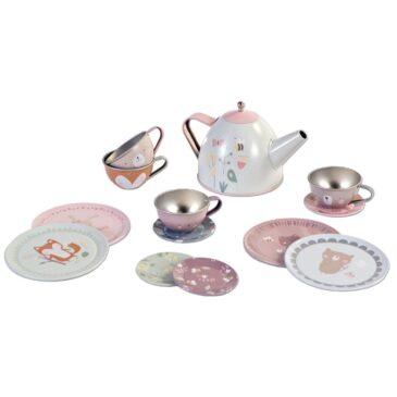 Tea set ap in latta - Little dutch