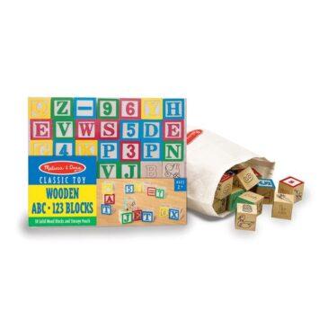 blocchi di legno lettere e numeri - Melissa and Doug