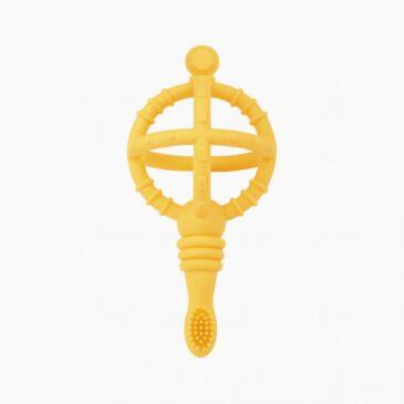 Spazzolino didattico e strumento di dentizione giallo - Naforye baby