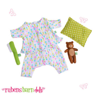 Vestitino, fascia e borsetta rose ganrden per bambole kids - Rubensbarn