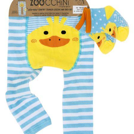Set Leggings e Calzini Antiscivolo Anatroccolo 12-18 mesi - Zoocchini