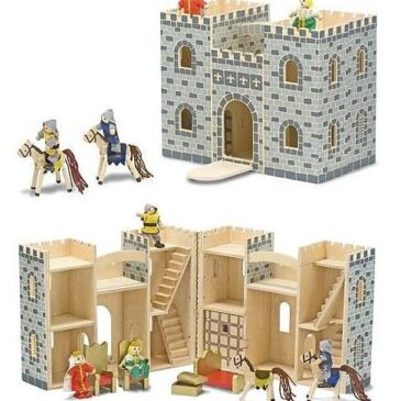 Castello trasportabile con personaggi e accessori - Melissa and Doug