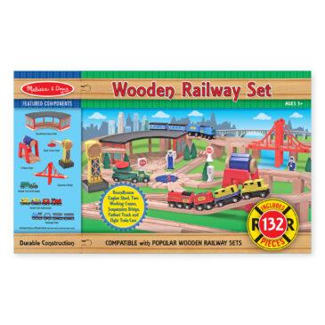 wooden railway set - Melissa and Doug