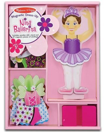 Dress Up Doll Magnetico Nina Ballerina - Melissa and Doug