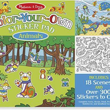 Stickers da colorarte animali - Melissa and Doug