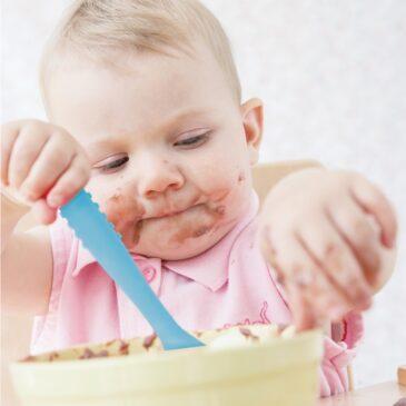 Cucchiaio in silicone azzurro - Naforye baby