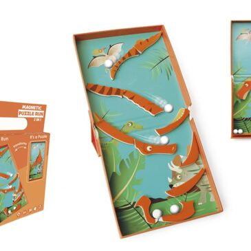 Puzzle magnetico 2 in 1 dinosauro - Scratch