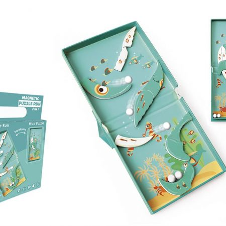 Puzzle magnetico 2 in 1 balena - Scratch