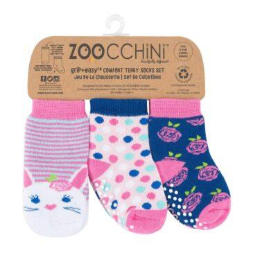 kit 3 calzini antiscivolo coniglio 0-24 mesi - Zoocchini