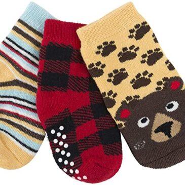 kit 3 calzini antiscivolo orso 0-24 mesi - Zoocchini
